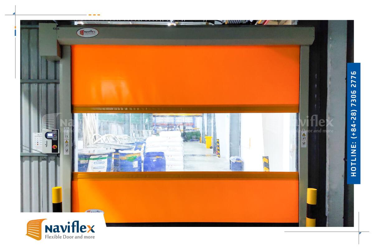 Dự án cửa cuốn nhanh High speed door HSD01-NF tại TP.HCM
