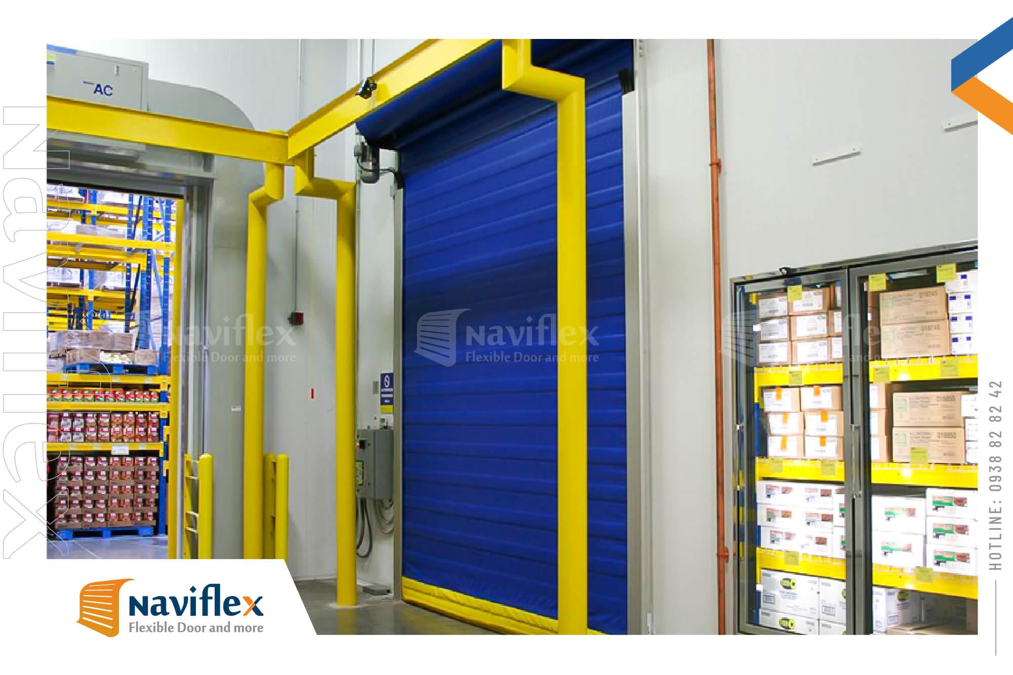 Cửa cuốn nhanh kho lạnh Cold high speed door HSD03-NF Naviflex